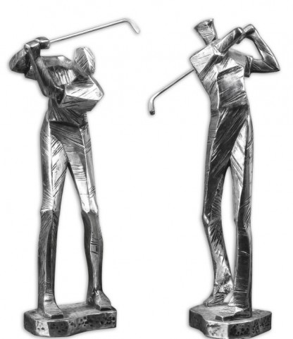 Practice Shot Metallic Statues, Set of 2