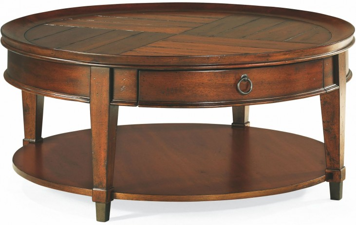 Sunset Valley Rich Mahogany Round Cocktail Table