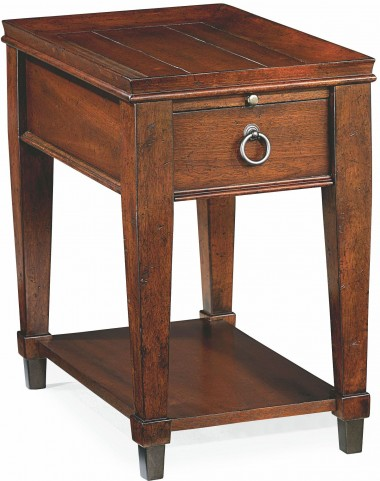 Sunset Valley Rich Mahogany Chairside Table