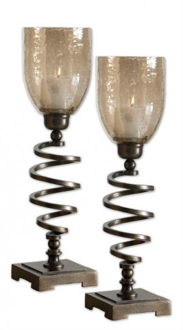 Spiral Twist Candleholders Set of 2