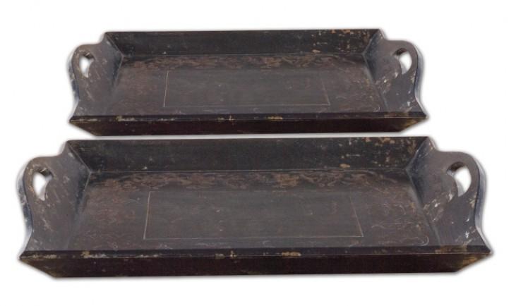 Melani Antique Trays Set of 2