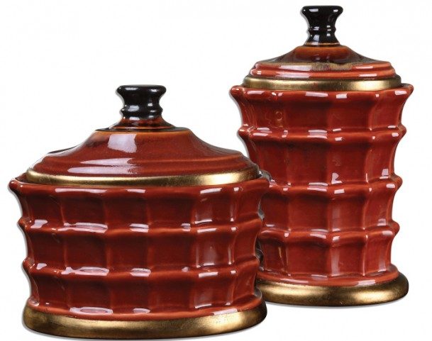 Brianna Ceramic Canisters Set of 2