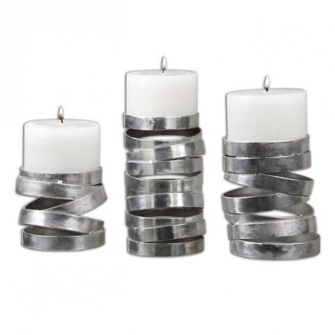 Tamaki Silver Candleholders Set of 3