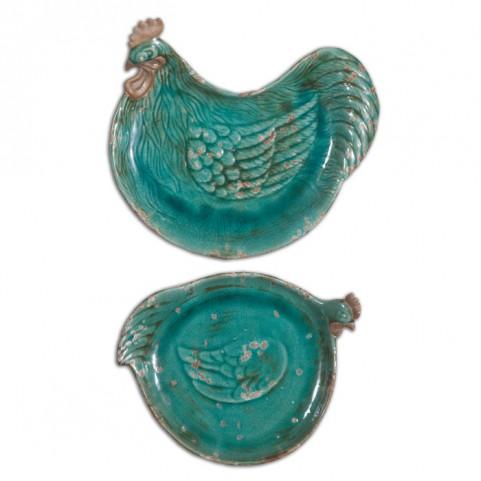 Galiana Ceramic Trays Set of 2