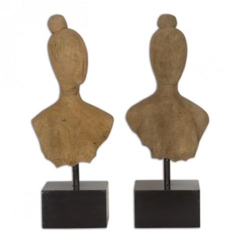 Arlie Wooden Sculptures Set of 2