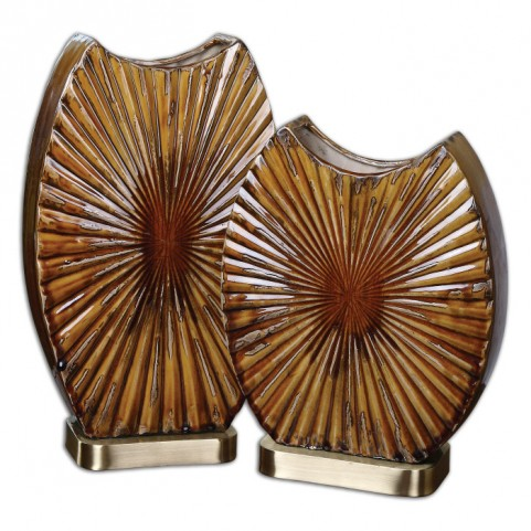 Zarina Marbled Ceramic Vases Set of 2