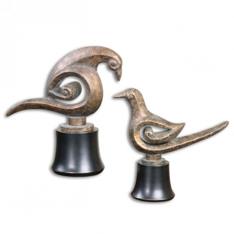 Aram Bird Sculptures  Set of 2