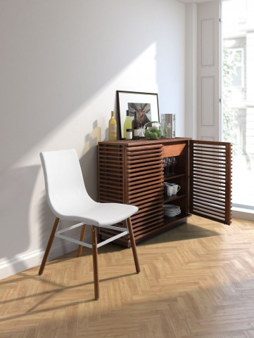 Linea Walnut Tall Console
