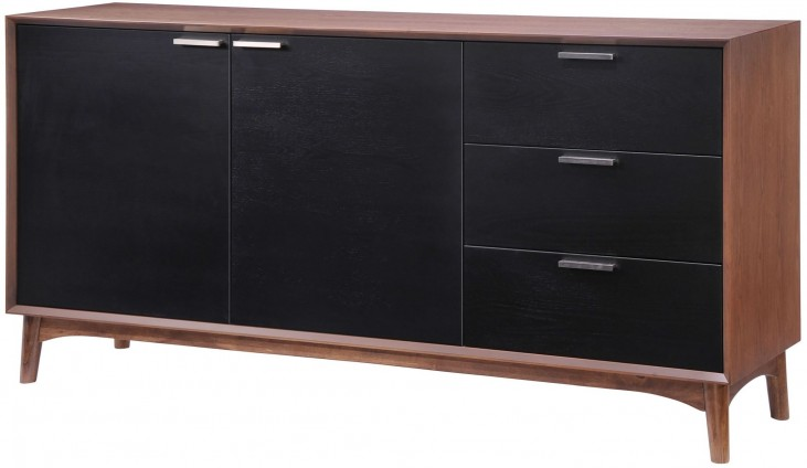 Liberty City Walnut & Black Buffet
