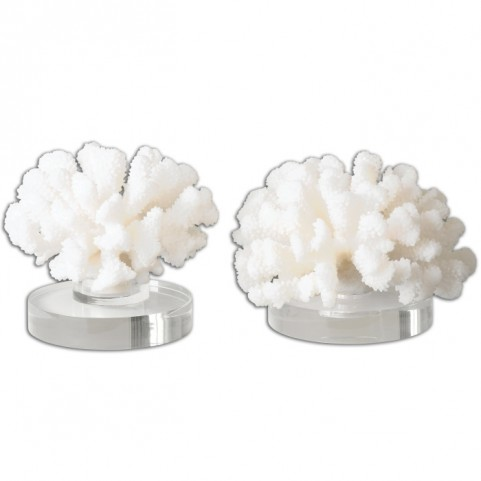 Hard Coral Sculptures Set of 2