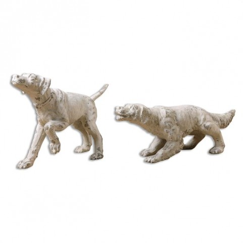 Hudson And Penny Dog Sculptures Set of 2