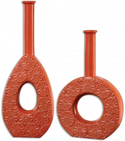 Ace Orange Vases Set of 2