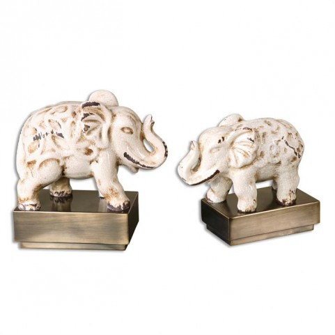 Maven Elephant Sculptures Set of 2