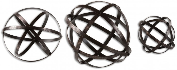 Stetson Bronze Spheres Set of 3