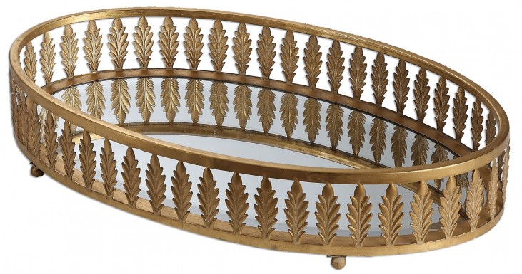 Bevan Gold Oval Tray