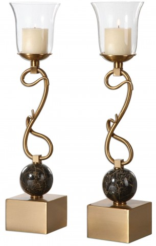 Attila Coffee Bronze Candleholders Set of 2