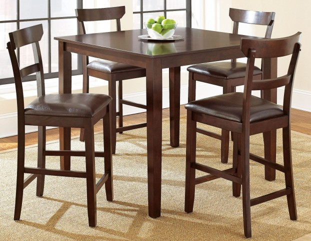 Howard Merlot Cherry 5 Piece Counter Height Dining Set