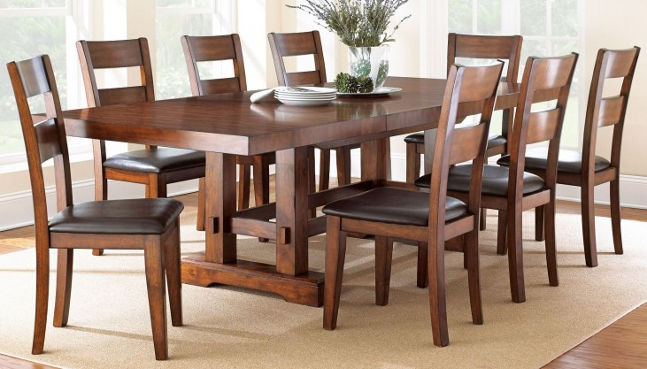 Zappa Medium Cherry Extendable Rectangular Dining Room Set