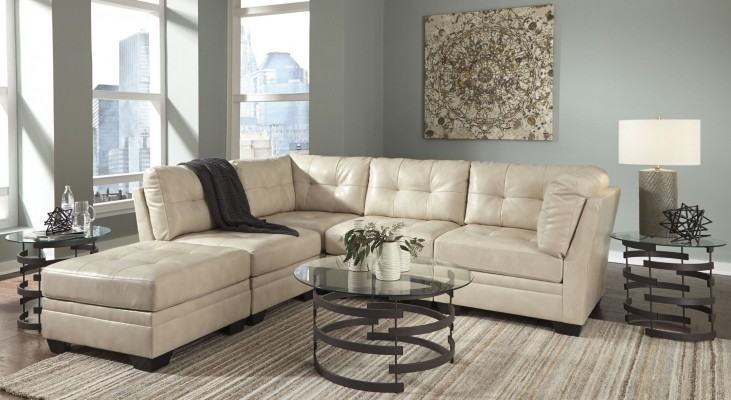 Khalil DuraBlend Taupe Sectional