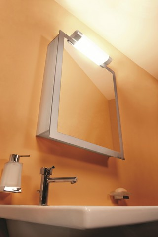 "Axara 23"" Hinge Left White Mirror Cabinet"