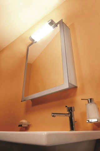 "Axara 23"" Hinge Right Anodized Mirror Cabinet"