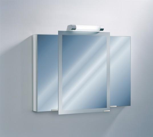 "Axara 39"" Hinge Left White Mirror Cabinet"