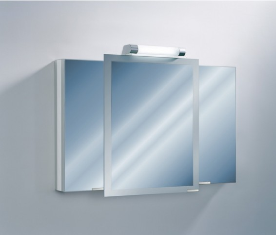 "Axara 47"" Hinge Left Anodized Mirror Cabinet"