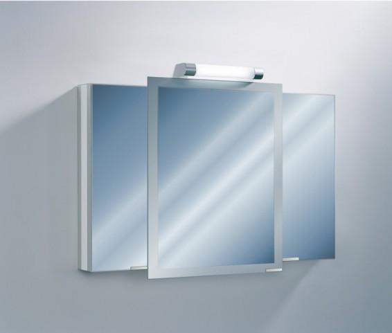 "Axara 47"" Hinge Left White Mirror Cabinet"