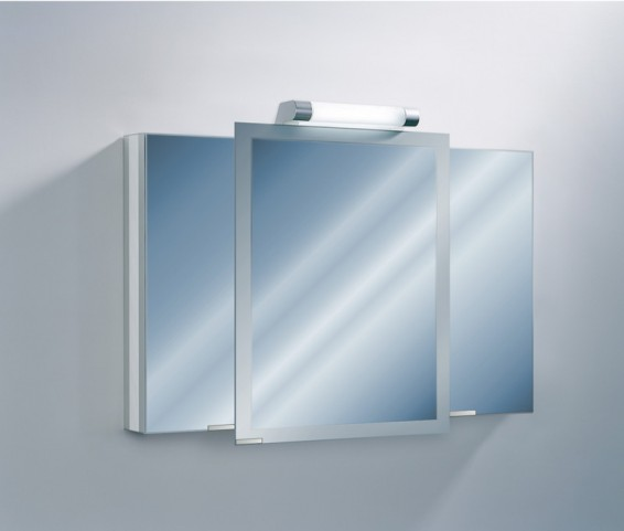 "Axara 47"" Hinge Right Anodized Mirror Cabinet"