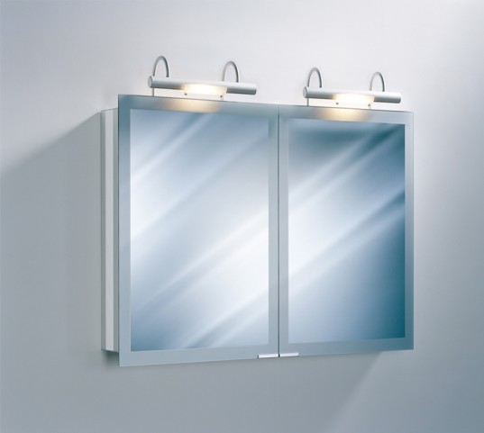 "Axara 39"" White Mirror Cabinet with Halogen Lamp"