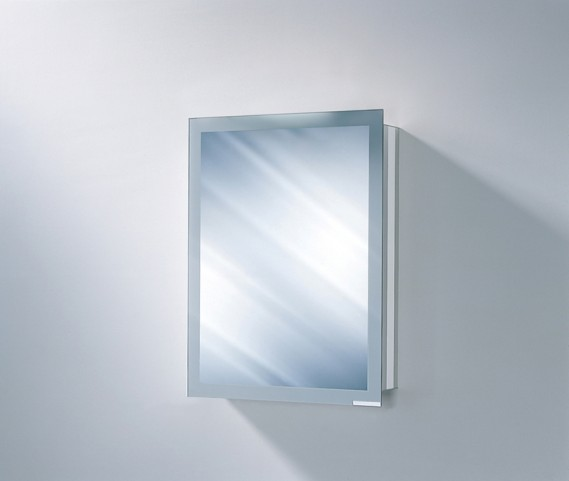 """Axara 19"""" Hinge Right Non Electric Anodized Mirror Cabinet"""