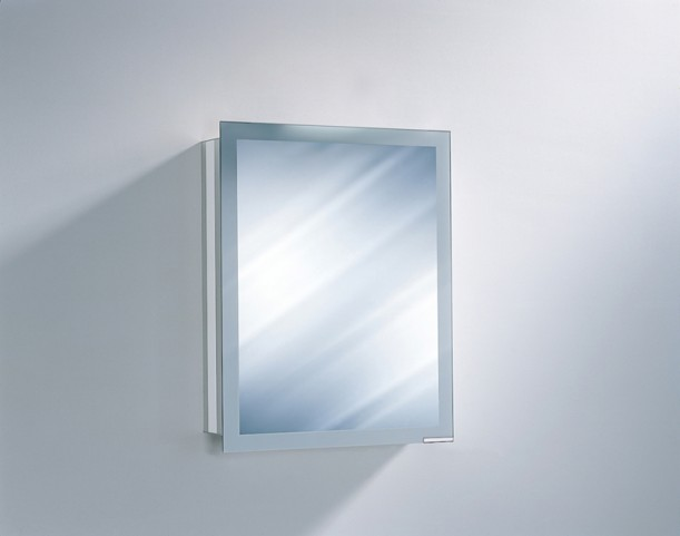 "Axara 23"" Hinge Left Non Electric Anodized Mirror Cabinet"