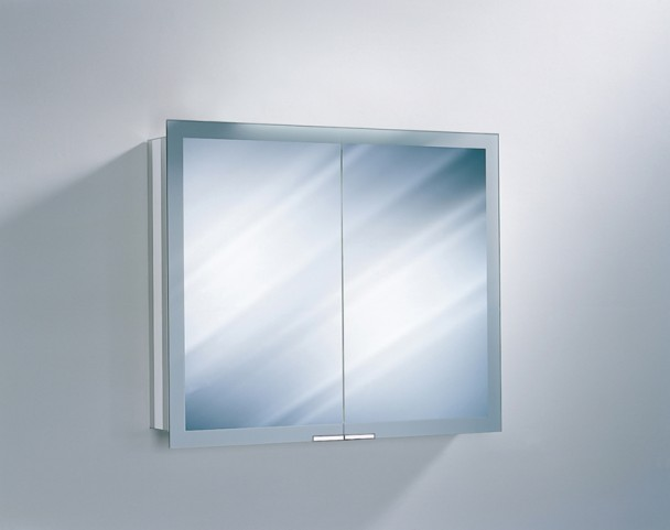 "Axara 35"" Non Electric Anodized Mirror Cabinet"