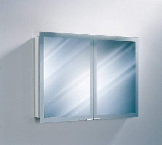 "Axara 39"" Non Electric Anodized Mirror Cabinet"