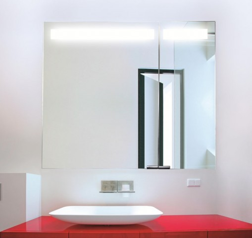 "Diamando 35"" Hinge Left 2 Light Mirror Cabinet"