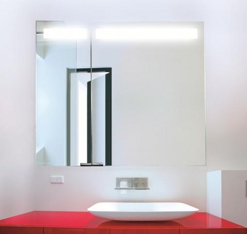 """Diamando 35"""" Hinge Left 2 Light Mirror Cabinet"""