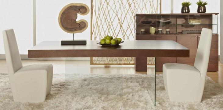 Cleo Blain Dark Walnut Rectangular Dining Room Set with Ritz Tobi Dining Chairs
