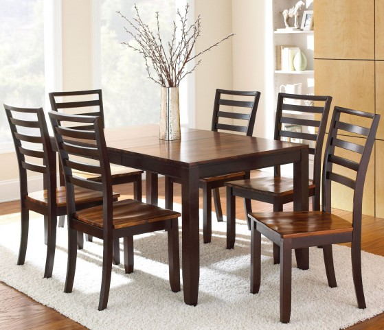 Abaco Cordovan Cherry Extendable Rectangular Dining Room Set