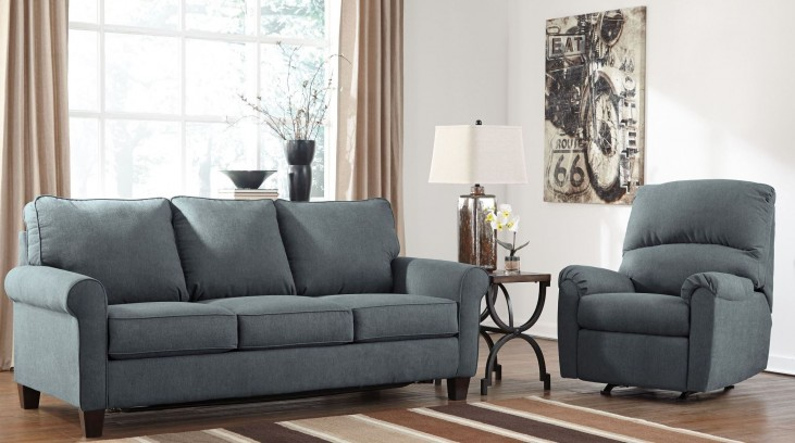 Zeth Denim Living Room Set