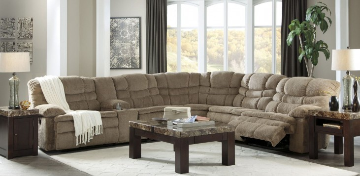 Zavion Beige Power Reclining Sectional