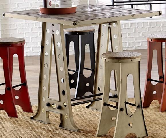 A-Frame Forge White Zen Pub Table