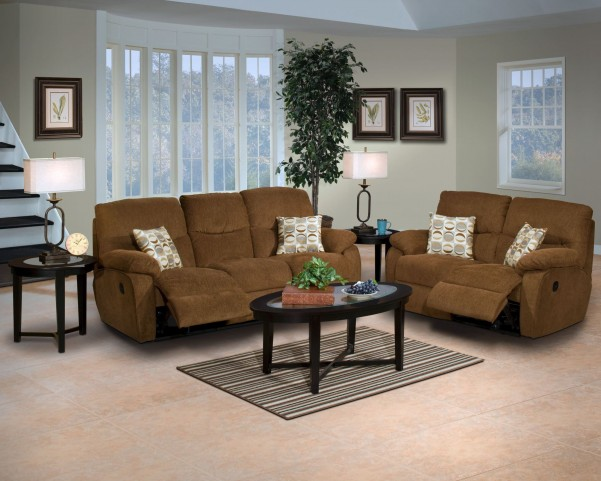 Manchester Cocoa Dual Reclining Living Room Set