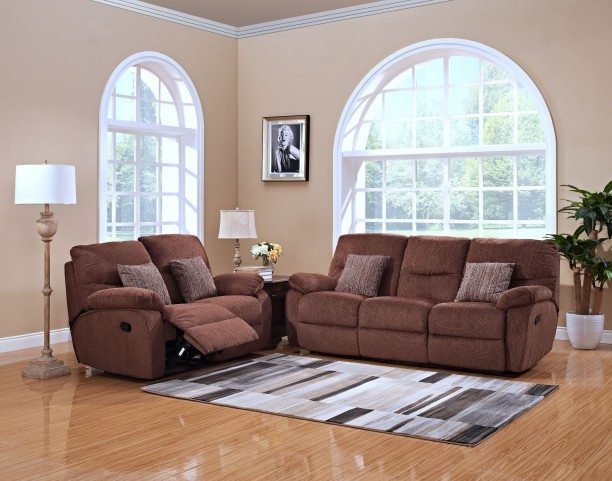 Cheshire Fudge Dual Reclining Living Room Set