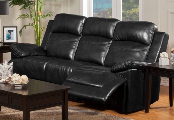 Cortez Black Dual Reclining Sofa
