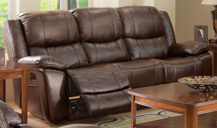 Kenwood Premier Brown Dual Reclining Sofa