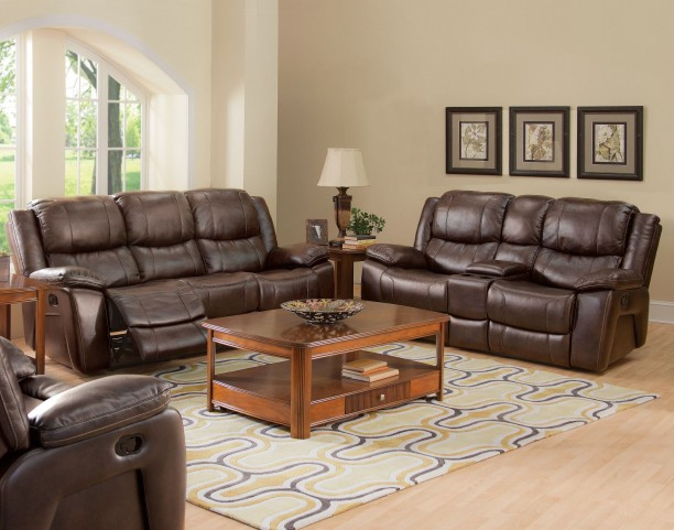 Kenwood Premier Brown Power Reclining Living Room Set