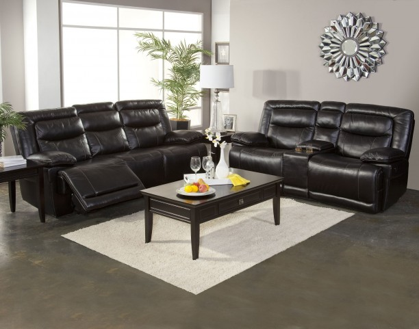 Torino Premier Black Power Reclining Living Room Set