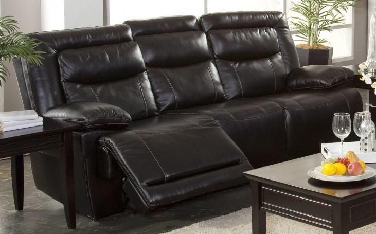 Torino Premier Black Dual Reclining Sofa