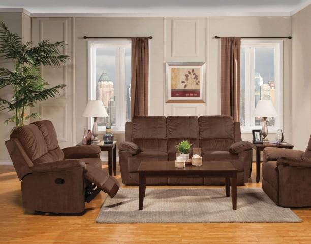 Parker Jayden Chocolate Reclining Living Room Set
