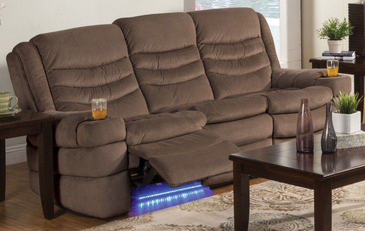 Rolling Hills Tan Power Reclining Sofa